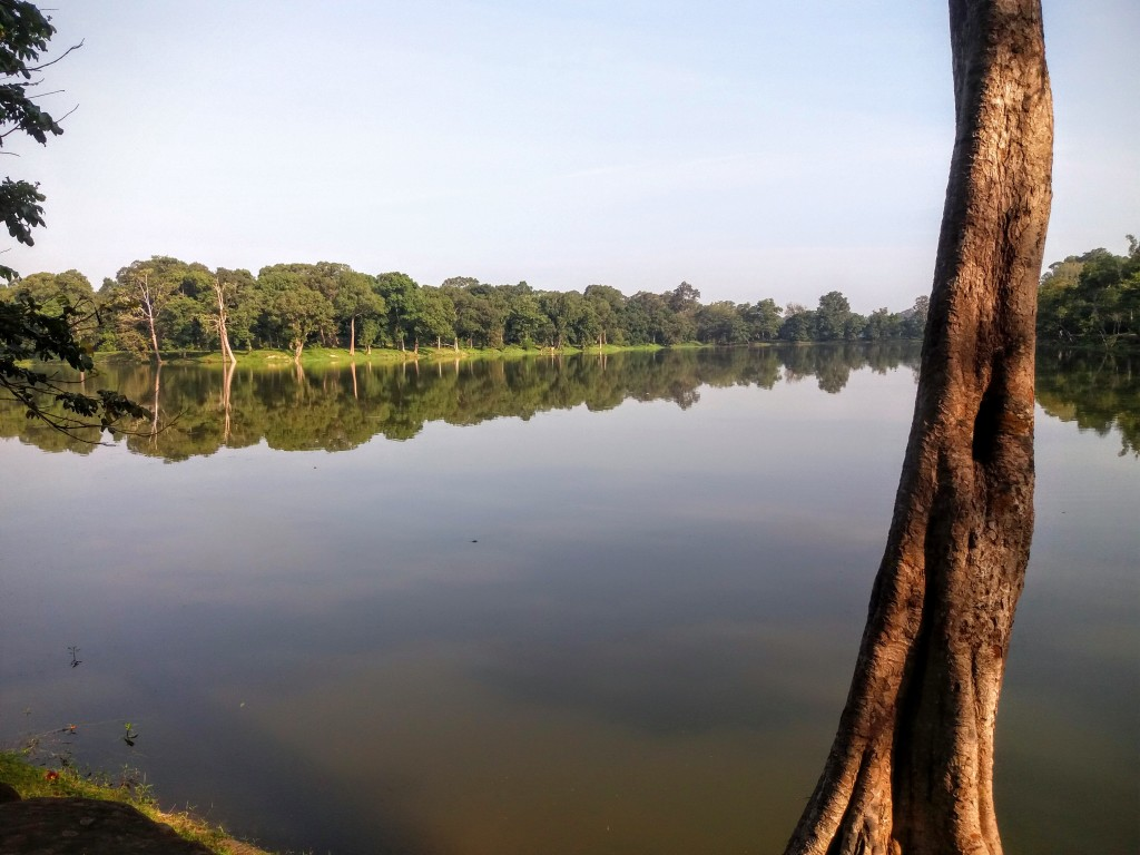 Angkor Wat's moat just after sunrise