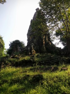Base of Preah Palilay, choked with vegetation