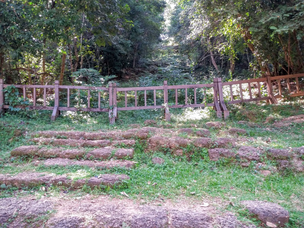 The ancient steps the Khmer used to reach the summit, now closed off.