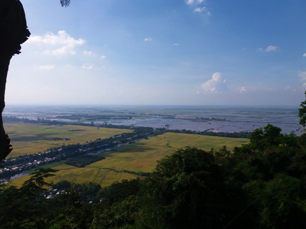 Looking into Cambodia from Sam Mountain